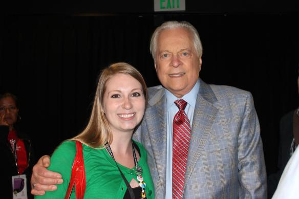 Comet Over Hollywood owner Jessica Pickens with TCM Primetime Host Robert Osborne at the TCM Film Festival 2013.