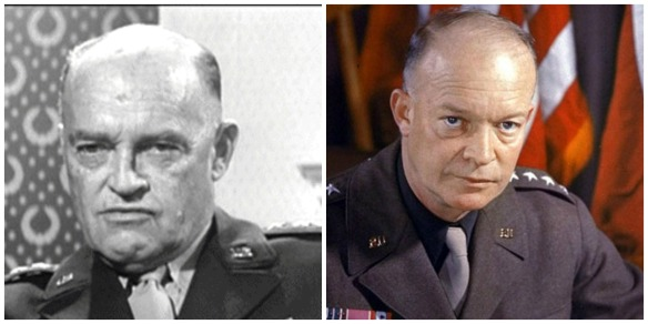 Set designer Henry Grace (left) and President Dwight Eisenhower (right)