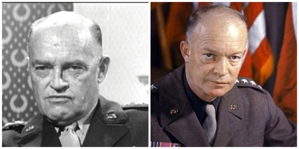 Set designer Henry Grace (left) and President Dwight Eisenhower (right)