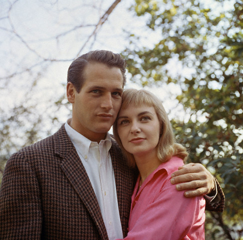 Paul Newman with wife Joanne Woodward