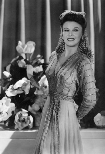 "Ginger Rogers in ""The Major and the Minor"" with a snood."