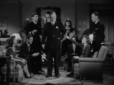 "Christmas party scene in ""Since You Went Away"" with everyone playing charades. -screencapped by the Hollywood Comet"