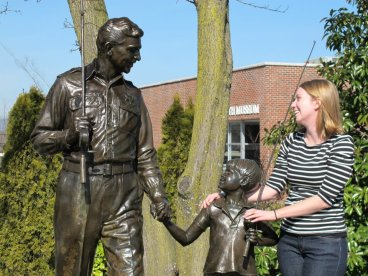 February 2012 during one of my visits to Mount Airy with the Andy Griffith statue.
