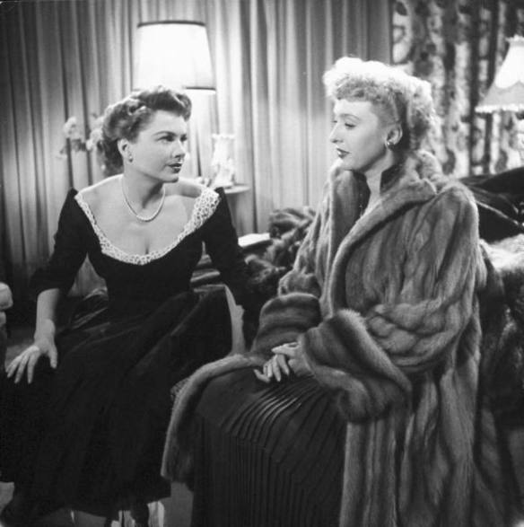"Anne Baxter and Celeste Holm in ""All About Eve"" (1950). Photo from LIFE magazine"