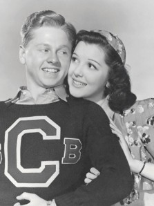Ann Rutherford as Polly Benedict and Mickey Rooney as Andy Hardy in 1938.