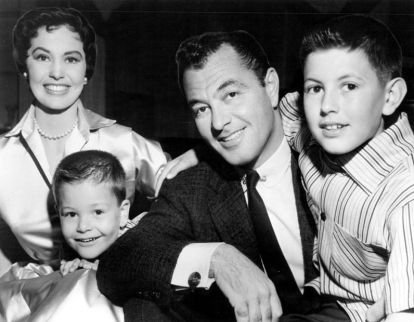 Tony Martin with wife of 60 years, Cyd Charisse, and children Tony Jr. and Nicky in 1956.
