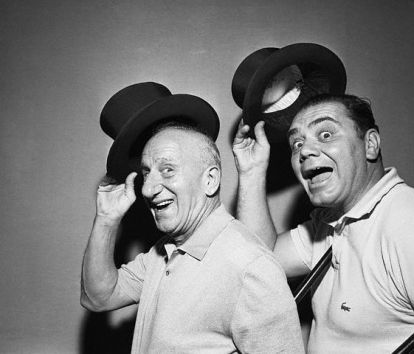 And he could be completely adorable, like here with Jimmy Durante in 1956.