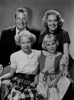 Singers Phil Harris and Alice Faye with their daughters