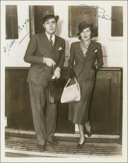 Charles Boyer and his wife Pat