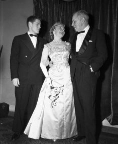Helen Hayes and Charles MacArthur and son James. 1955