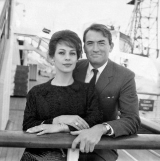 Gregory Peck and Veronique in 1962
