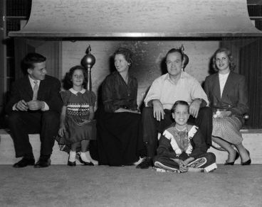 The Hope family in 1955