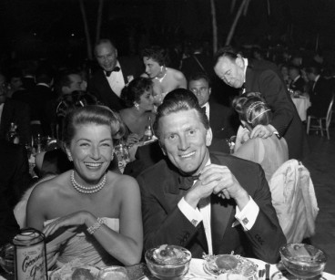 Kirk and Anne Douglas in 1957 at the Golden Globes