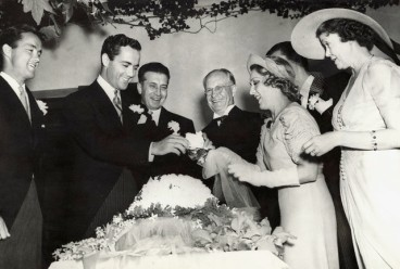 Mary Pickford and Charles Buddy Rogers on their wedding day in 1927
