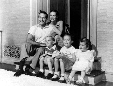 Ricardo Montalbon and his wife Georgiana in 1951 with their children Laura, Mark and Anita