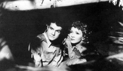 Lt. Summers (George Reeves) and Lt. Davidson (Claudette Colbert)