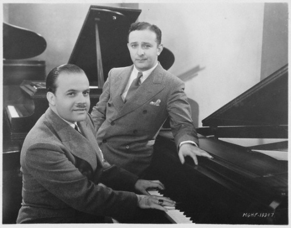Nacio Herb Brown (left) and Arthur Freed (right) in 1929. The two wrote several songs together.