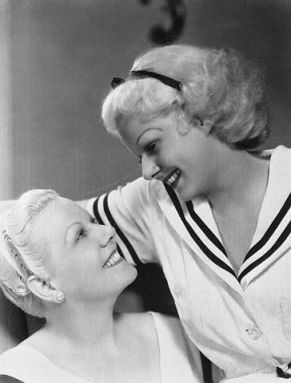 Jean Harlow with her mother