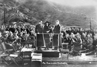 Los Angeles Philharmonic at the Hollywood Bowl in 1921.
