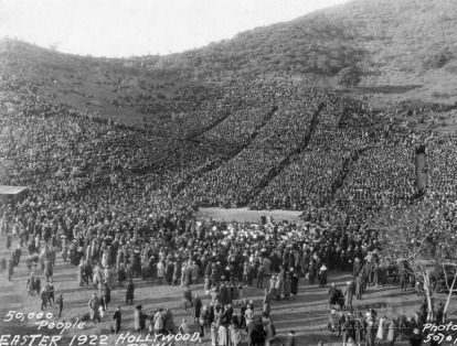 Easter Service in 1922 with 50,000 people in attendance.