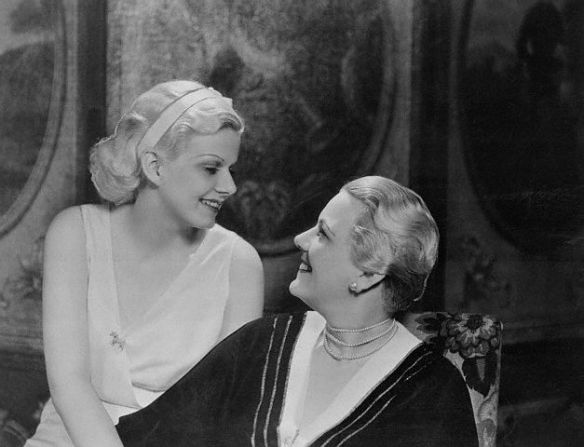 Harlow and her mother in 1932