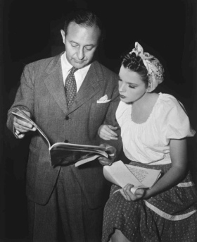 Judy Garland and Arthur Freed