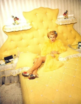 Lana also liked clean, bright colors such as yellow. Here she is in 1942. (182)