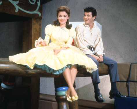"""With Tommy Sands in """"Babes in Toyland"""""""