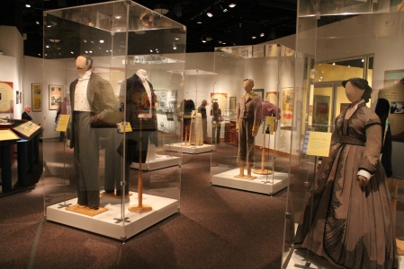 Room of costumes from Gone with the Wind at the NC Museum of History