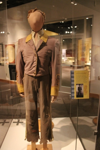 Tattered Civil War uniform worn by Leslie Howard as Ashley Wilkes