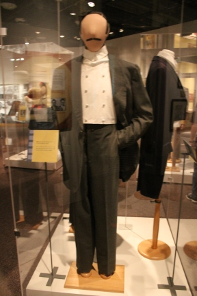 A suit worn by Clark Gable as Rhett Butler. It was later worn by John Wayne, who at one point was the same size as Gable.