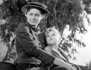 Moore with Barbara Stanwyck in