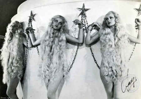 """Lucille Ball dressed as a blond slave in """"Roman Scandals"""" (1933)"""