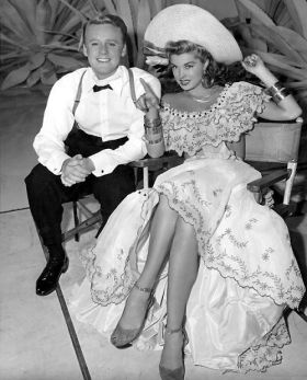 "Esther Williams and frequent co-star Van Johnson in ""Easy to Wed"""