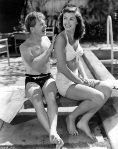 "With Mickey Rooney in ""Andy Hardy's Double Life"""