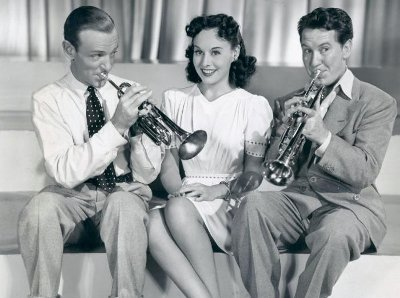 "Astaire, Goddard and Meredith in ""Second Chorus"""