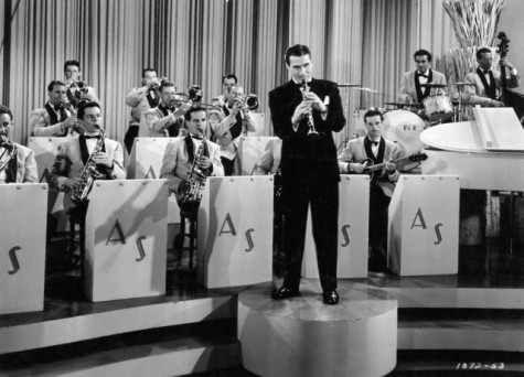 "Artie Shaw and his band performing in ""Second Chorus."""