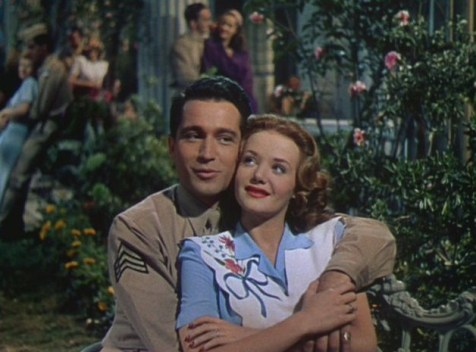 "Perry Como singing ""I Wish I Didn't Have to Say Goodnight"" to Cara Williams. (Comet Over Hollywood/ Screen cap by Jessica P.)"