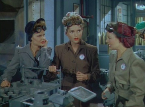 "Judy Holliday in a brief role in ""Something for the Boys"" (Comet Over Hollywood/ Screen Cap by Jessica P.)"