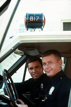"Kent McCord as Jim Reed and Martin Milner as Pete Malloy in ""Adam-12"" (Source: KentMcCord.com)"