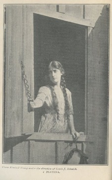 "Clara Kimball Young as Plutina in ""Heart of the Blueridge."" Photo scanned from the movie version of the book."