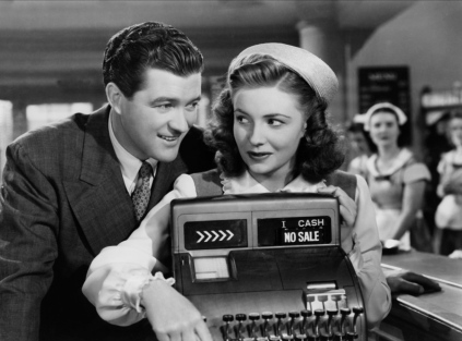 "Dennis Morgan and Joan Leslie are one of the few stars in ""Thank Your Lucky Stars"" who don't play themselves."