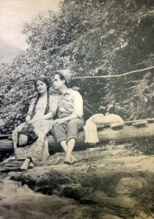 "Chester Barnett and Clara Kimball Young in ""Heart of the Blue Ridge"" scanned from the movie version of the book."