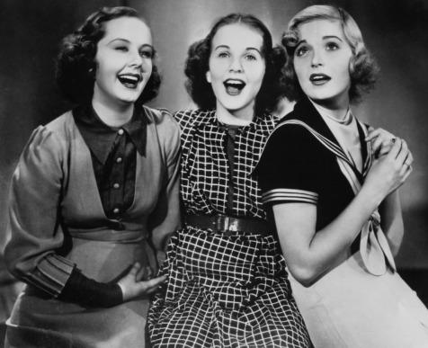 "Babara Read, Deanna Durbin and Nan Grey as sisters in ""Three Smart Girls"""