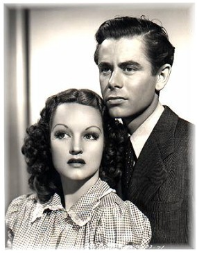 Rochelle Hudson and Glenn Ford, Columbia Pictures Studios tried to make the two actors a screen team.