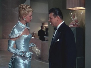 Jack Carson and Doris Day meet on board the ship