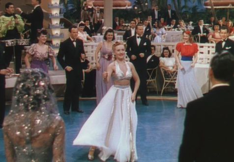 "Another favorite outfit Grable wears in ""The Kindergarten Conga"" (Comet Over Hollywood/Screen Cap by Jessica Pickens)"