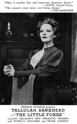 "Tallulah Bankhead as Regina Giddens in ""The Little Foxes."""