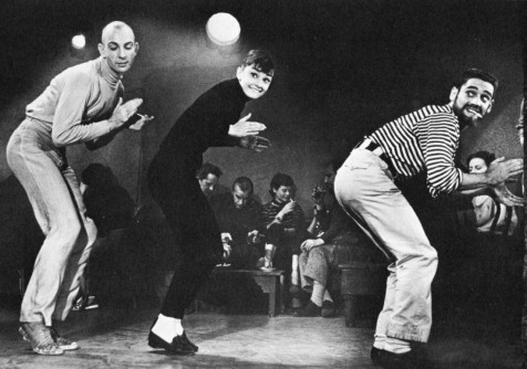 "Audrey Hepburn dances in a beatnik cafe in ""Funny Face"" (1957)"