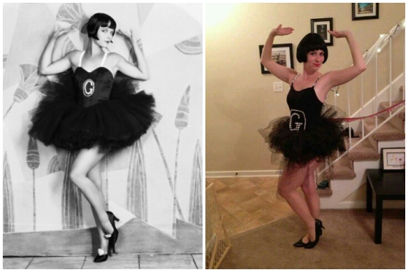 "My Halloween costume modeled after Louise Brooks in ""Now We're In the Air"" (1927)"